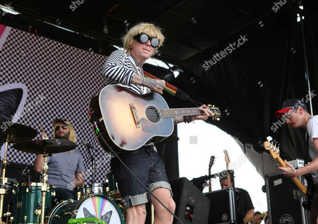 Stock Photo of Christofer Drew with Never Shout Never performs during the Vans Warped Tour 2015 at Aaron's Amphitheatre, in Atlanta