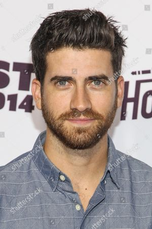 Ryan Rottman arrives at the Vevo Certified SuperFanFest Live Concert at the Barker Hangar, in Santa Monica, Calif