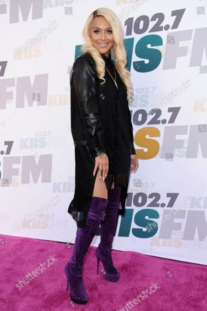 Stock Image of Alyxx Dione arrives at Wango Tango 2015 held at StubHub Center, in Carson, Calif