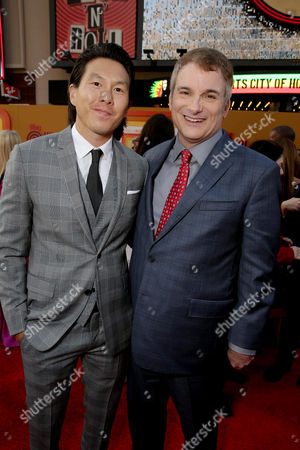 """Executive Producer Ken Kao and Writer/Director Shane Black seen at Warner Bros. Premiere of """"The Nice Guys"""" at TCL Chinese Theatre, in Los Angeles"""