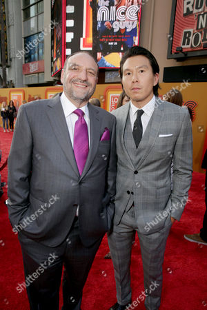 """Producer Joel Silver and Executive Producer Ken Kao seen at Warner Bros. Premiere of """"The Nice Guys"""" at TCL Chinese Theatre, in Los Angeles"""