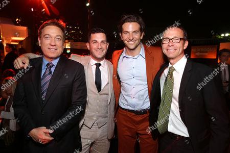 CAA's Kevin Huvane, Dan Bugilari, Bradley Cooper, and CAA's Richard Lovett arrive at Warner Bros. Premiere of The Hangover: Part III, on Monday, May, 20, 2013 in Los Angeles