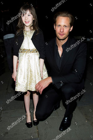 """Onata Aprile and Alexander Skarsgard attend the after party following a screening of """"What Maisie Knew"""" hosted by The Cinema Society with Tod's and GQ on in New York"""