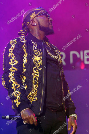 Stock Image of Young Jeezy, Jay Wayne Jenkins Jeezy performs during Winterfest 2016 at Philips Arena, in Atlanta