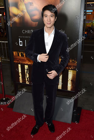 """Leehom Wang arrives at the world premiere of """"Blackhat"""" at the TCL Chinese Theatre, in Los Angeles"""