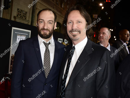 """From left to right, director Ken Scott and writer Scott Mednick arrive on the red carpet at the world premiere of """"Delivery Man"""" at The El Capitan Theatre on in Los Angeles"""