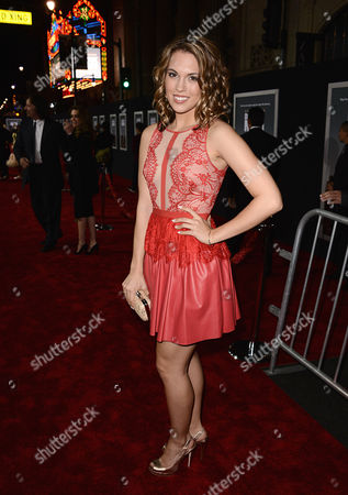"Actress Leslie Ann Glossner arrives on the red carpet at the world premiere of ""Delivery Man"" at The El Capitan Theatre on in Los Angeles"
