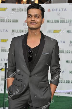 """Madhur Mittal arrives at the world premiere of """"Million Dollar Arm"""" on in Los Angeles"""