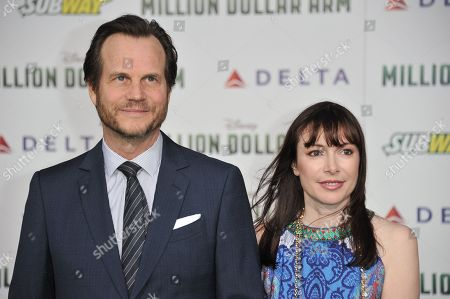 "Bill Paxton, left, and Louise Newbury arrive at the world premiere of ""Million Dollar Arm"" on in Los Angeles"