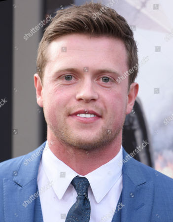 """Hugo Johnstone-Burt arrives at the world premiere of """"San Andreas"""" at the TCL Chinese Theatre, in Los Angeles"""