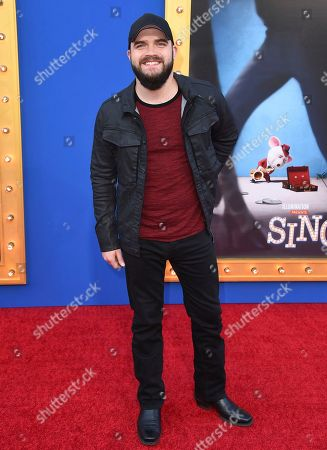 """Stock Picture of Josh Gallagher arrives at the world premiere of """"Sing"""" at the Microsoft Theater, in Los Angeles"""