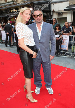 Rebecca Morgan and Huey Morgan arrive at the World Premiere of 'Diana',, in London