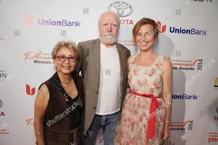 Stock Image of Heavenly Koh Wilson, Scott Wilson and Tanna Frederick seen at YWCA Greater Los Angeles Phenomenal Woman of the Year Award at the Omni Los Angeles Hotel, in Los Angeles, CA