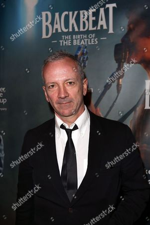 """Backbeat"""" writer Iain Softley poses during the arrivals for the opening night performance of """"Backbeat"""" at the Center Theatre Group/Ahmanson Theatre on in Los Angeles, Calif"""