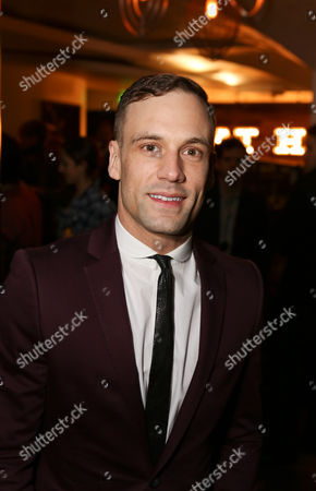 """Cast member Nick Blood (plays Stuart Sutcliffe) poses during the party for the opening night performance of """"Backbeat"""" at the Center Theatre Group/Ahmanson Theatre on in Los Angeles, Calif"""