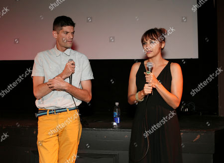 """Jacob Soboroff Will McCormack and Rashida Jones attend the """"Celeste and Jesse Forever"""" Band of Outsiders screening at The Silent Theater, in Los Angeles"""