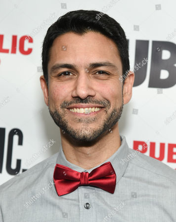 """Stock Image of Actor Sanjit De Silva attends The Public Theater opening night celebration of """"Dry Powder"""", in New York"""