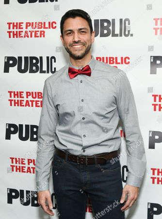 """Stock Picture of Actor Sanjit De Silva attends The Public Theater opening night celebration of """"Dry Powder"""", in New York"""