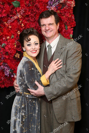 """From left, cast members Tracie Bennett and Michael Cumpsty pose backstage after the opening night performance of """"End of the Rainbow"""" at Center Theatre Group/Ahmanson Theatre on in Los Angeles, Calif"""