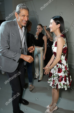 """Jeff Goldblum and Grace Huang seen at the """"Independence Day Resurgence"""" Global Production Event, in Albuquerque, New Mexico"""