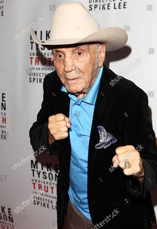 """Boxer Jake LaMotta is seen at the """"Mike Tyson: Undisputed Truth"""" event on in New York"""