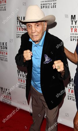 """Stock Picture of Boxer Jake LaMotta is seen at the """"Mike Tyson: Undisputed Truth"""" event on in New York"""