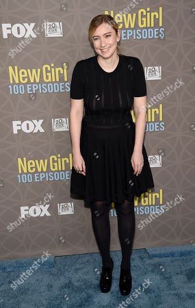 "Liz Meriwether, creator/executive producer of ""The New Girl,"" poses at a party celebrating the 100th episode of the television series at the W Hotel Westwood, in Los Angeles"