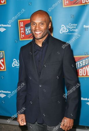 """Actor Kenny Lattimore poses during the arrivals for the opening night performance of """"The Scottsboro Boys"""" at the Center Theatre Group/Ahmanson Theatre, in Los Angeles, Calif"""