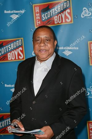 """Actor Barry Shabaka Henley poses during the arrivals for the opening night performance of """"The Scottsboro Boys"""" at the Center Theatre Group/Ahmanson Theatre, in Los Angeles, Calif"""