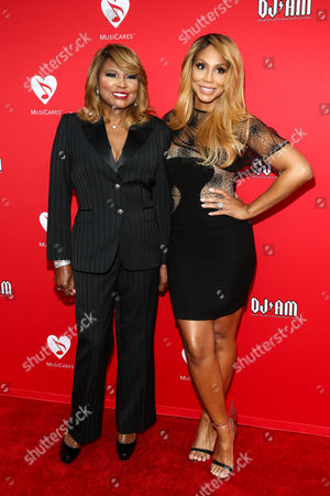 Evelyn Braxton, left, and Tamar Braxton attend the 12th Annual MusiCares MAP Fund Benefit Concert held at The Novo by Microsoft, in Los Angeles