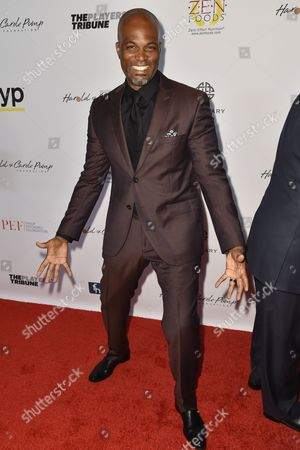 Chris Spencer arrives at the 15th Annual Harold and Carole Pump Foundation Gala held at the Hyatt Regency Century Plaza,, in Los Angeles
