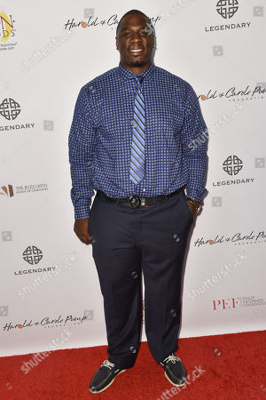Donovan Carter arrives at the 15th Annual Harold and Carole Pump Foundation Gala held at the Hyatt Regency Century Plaza,, in Los Angeles