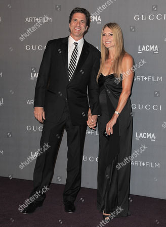 Steven Levitan, left and Krista Levitan arrive at the 2012 ART + FILM GALA hosted by LACMA, in Los Angeles