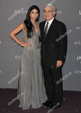 Stock Photo of Courtenay Semel and Terry Semel arrive at the 2012 ART + FILM GALA hosted by LACMA, in Los Angeles
