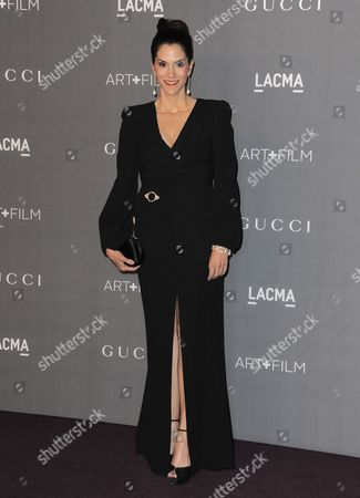 Jami Gertz arrives at the 2012 ART + FILM GALA hosted by LACMA, in Los Angeles