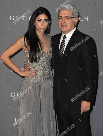 Stock Image of Courtenay Semel and Terry Semel arrive at the 2012 ART + FILM GALA hosted by LACMA, in Los Angeles