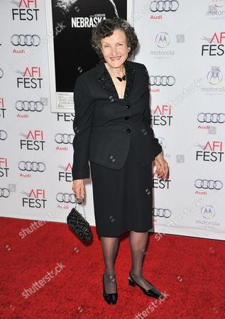 "Angela McEwan arrives at the 2013 AFI Fest premiere of ""Nebraska"" at the TCL Chinese Theatre on in Los Angeles"