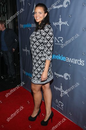 Actress Miracle Laurie arrives at the 2013 Geekie Awards at the Avalon on in Los Angeles