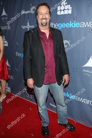 Actor Gabriel Jarret and guest arrive at the 2013 Geekie Awards at the Avalon on in Los Angeles