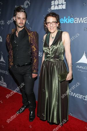 From left Brad Bell, and Jane Espenson arrive at the 2013 Geekie Awards at the Avalon on in Los Angeles
