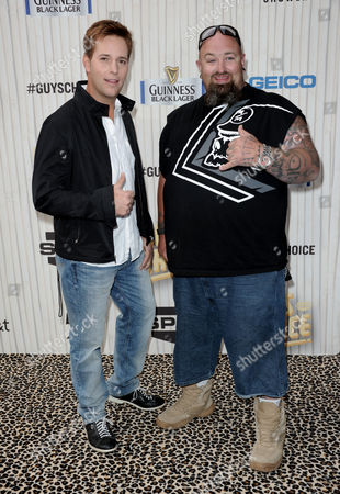 Stock Picture of Allen Lee Haff, left, and Clinton 'Ton' Jones arrive at Spike TV's Guys Choice Awards at Sony Pictures Studios, in Culver City, Calif
