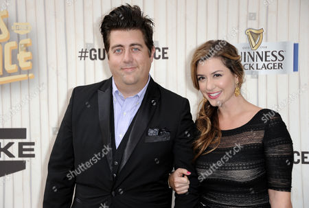 Eric Petersen, left, and Lisa Morabito Petersen arrive at Spike TV's Guys Choice Awards at Sony Pictures Studios, in Culver City, Calif