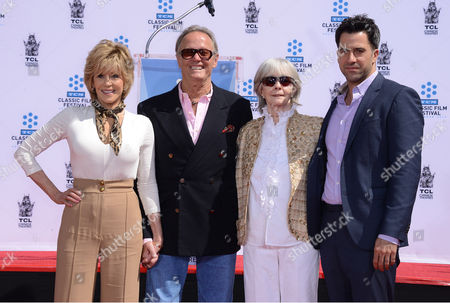 Stock Photo of From left, Jane Fonda, Peter Fonda, Shirlee Mae Adams and Troy Garity pose at the 2013 TCM Classic Film Festival honors Jane Fonda with a handprint and footprint ceremony at the TCL Chinese Theatre on in Los Angeles