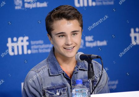 "Actor Gattlin Griffith participates in the press conference for ""Labor Day"" on day 3 of the 2013 Toronto International Film Festival at the TIFF Bell Lightbox on in Toronto"