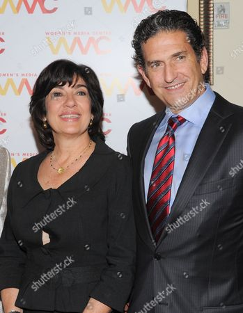 Chief International Correspondent for CNN, Christiane Amanpour and her husband James Rubin attend the 2013 Women's Media Awards hosted by The Women's Media Center on in New York