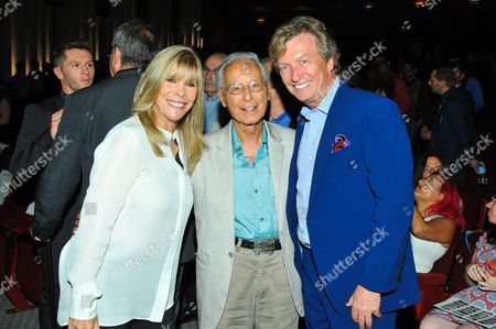 Choreographers Anita Mann and Tony Charmoli and producer Nigel Lythgoe are seen at the Television Academy's 66th Primetime Emmy Choreographers Nominee Reception on in the NoHo Arts District in Los Angeles