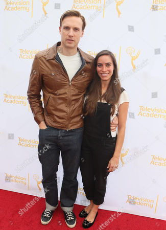 Teddy Sears, left, and Milissa Sears seen at the Television Academy's 66th Emmy Awards Costume Design and Supervision Nominee Reception at the Fashion Institute of Design & Merchandising, in Los Angeles