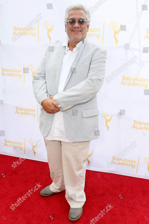 "Eduardo Castro, costumer designer of ""Once Upon a Time"", seen at the Television Academy's 66th Emmy Awards Costume Design and Supervision Nominee Reception at the Fashion Institute of Design & Merchandising, in Los Angeles"