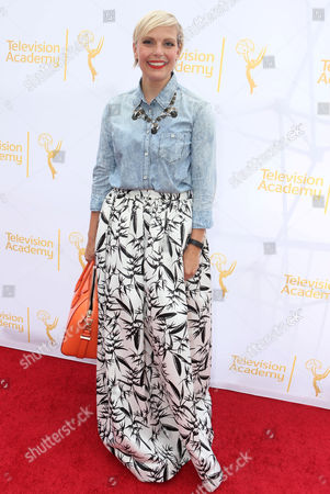 """Jennifer Rogien, costume designer of """"Orange Is The New Black"""", seen at the Television Academy's 66th Emmy Awards Costume Design and Supervision Nominee Reception at the Fashion Institute of Design & Merchandising, in Los Angeles"""