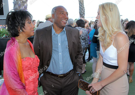 EXCLUSIVE - Carolyn Folks, and from left, Byron Allen and Jennifer Lucas attend the 2014 Daytime Emmy Nominee Reception presented by the Television Academy at The London West Hollywood on